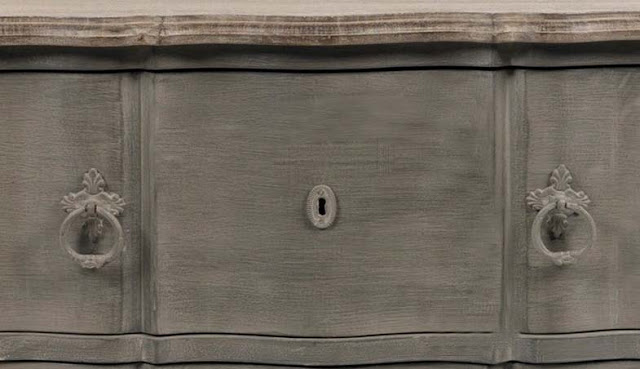 ~linenandlavender.net: YUKI BEDSIDE TABLE Bedside table patinated antique grey pearl Top oak aspect 2 drawers with metal handles Dimensions cms (L/w/h) : 70/46/62 cm Composition mango tree/MDF Finishing : Painted 512,50 &#8364;