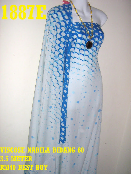 VN 1887E: VISCOSE NABILA BIDANG 60 INCI, 3.5 METER