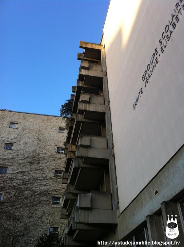 Paris 7ème - Groupe scolaire Sainte Jeanne-Elisabeth  Architecte: ?  Construction: 1974