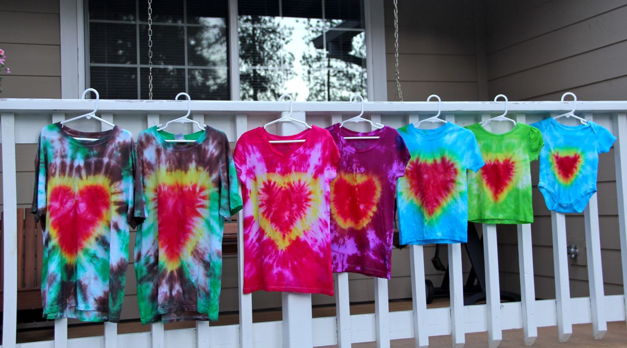 Shower of roses sacred heart tie dyed t shirts for How to make tie dye roses