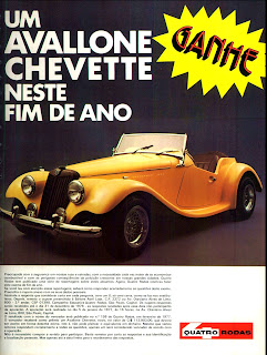 propaganda revista Quatro Rodas com Avallone Chevette - 1976. brazilian advertising cars in the 70. os anos 70. história da década de 70; Brazil in the 70s; propaganda carros anos 70; Oswaldo Hernandez;