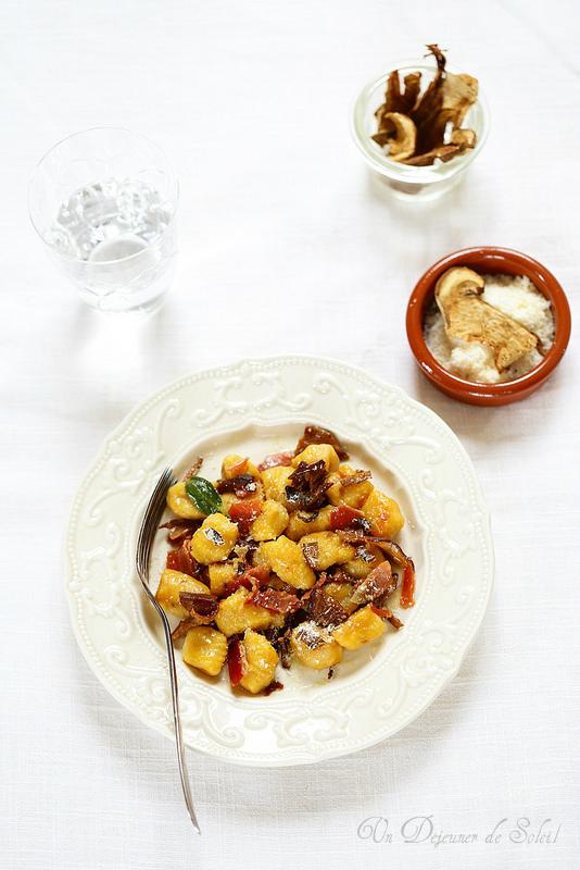 Gnocchi de potiron aux cèpes séchés (gnocchi di zucca)