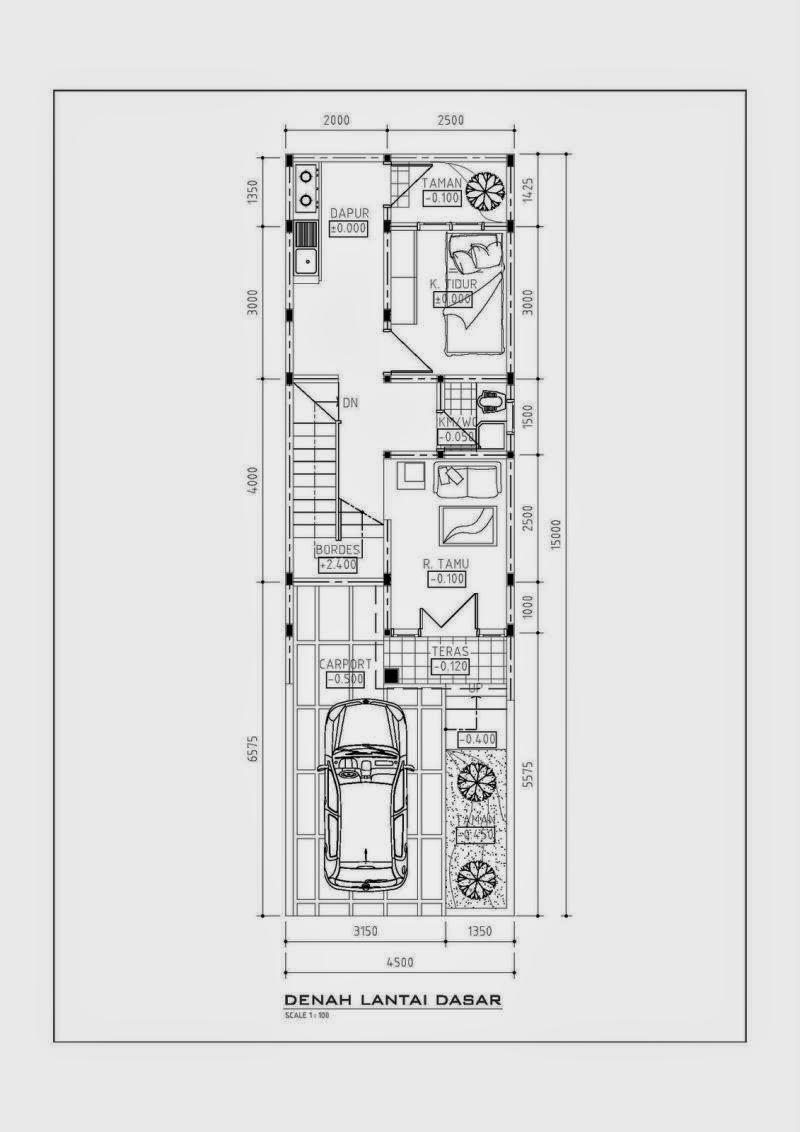 desain rumah minimalis lebar 4 meter. Black Bedroom Furniture Sets. Home Design Ideas