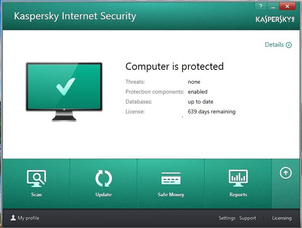 Kaspersky internet security 2016 v8 registry key until