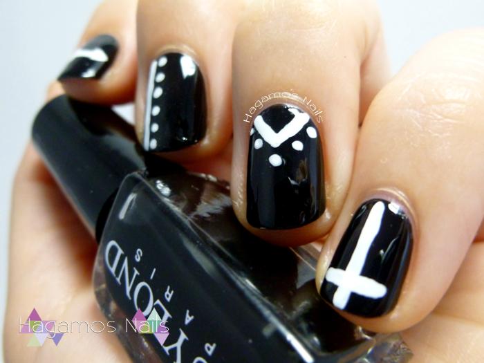 Nail art negro. #RetoColoresCosasde Chicas2. Hagamos Nails