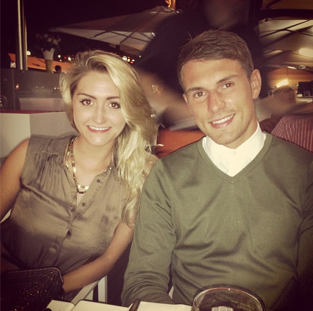 Aaron ramsey and girlfriend colleen