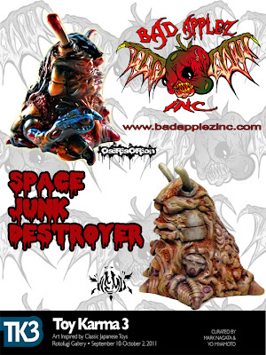 One of a Kind Hand Painted Custom Space Junk Destroyer Resin Figures by NeMo & OsirisOrion