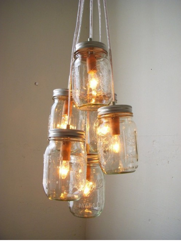P e w t e r p u d d l e s mason jar chandeliers bootsngus 5 etsy aloadofball Choice Image