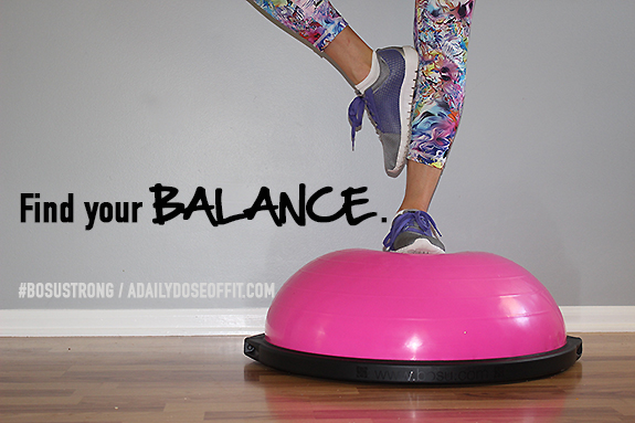 BOSUSTRONG, Pink BOSU, Balance Exercise, Balance Quote, Fit Approach, Sweat Pink