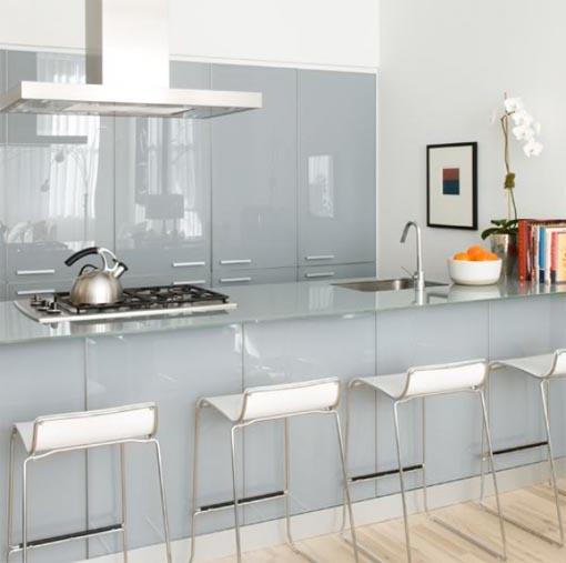 Kitchen Cabinets Glass Designs: Kitchen Remodel Designs: Modern Glass Kitchen