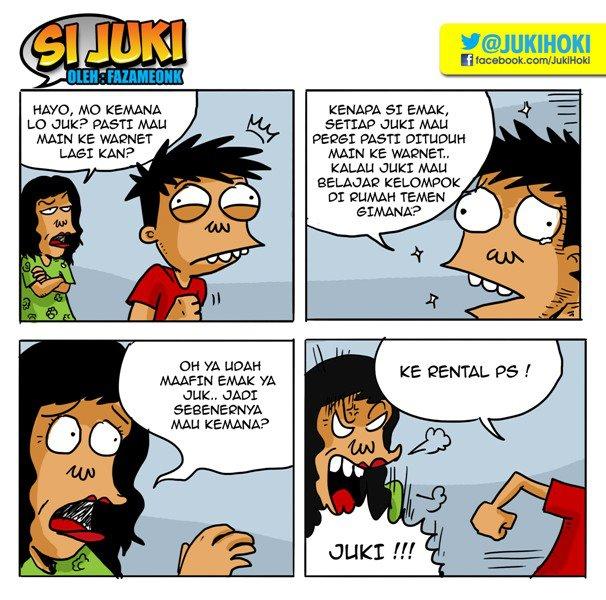Gambar Lucu, cerita lucu, Komik si Juki | Kata-kata Cinta ...