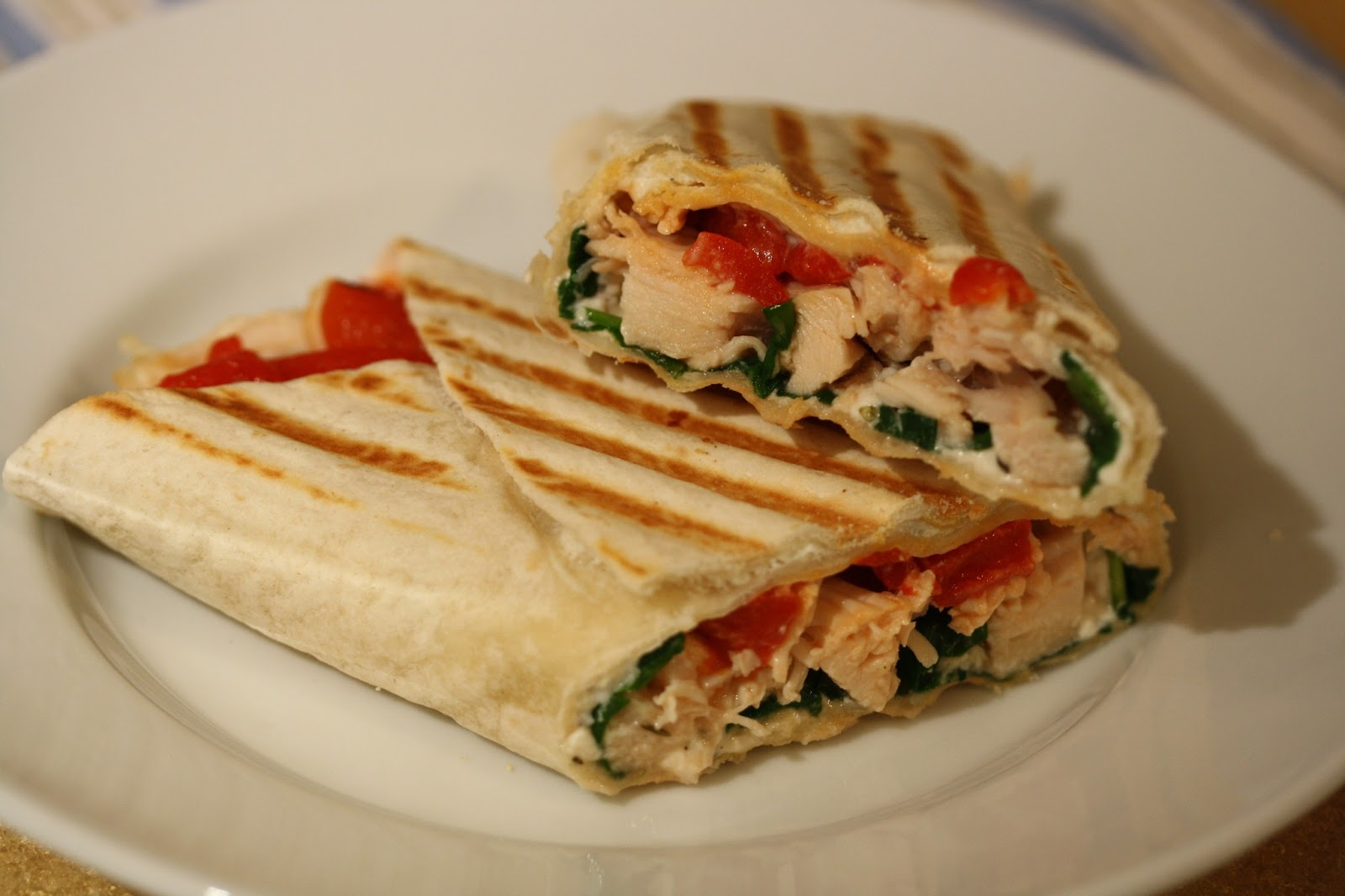 Hot Dinner Happy Home Chicken And Red Pepper Wrap With
