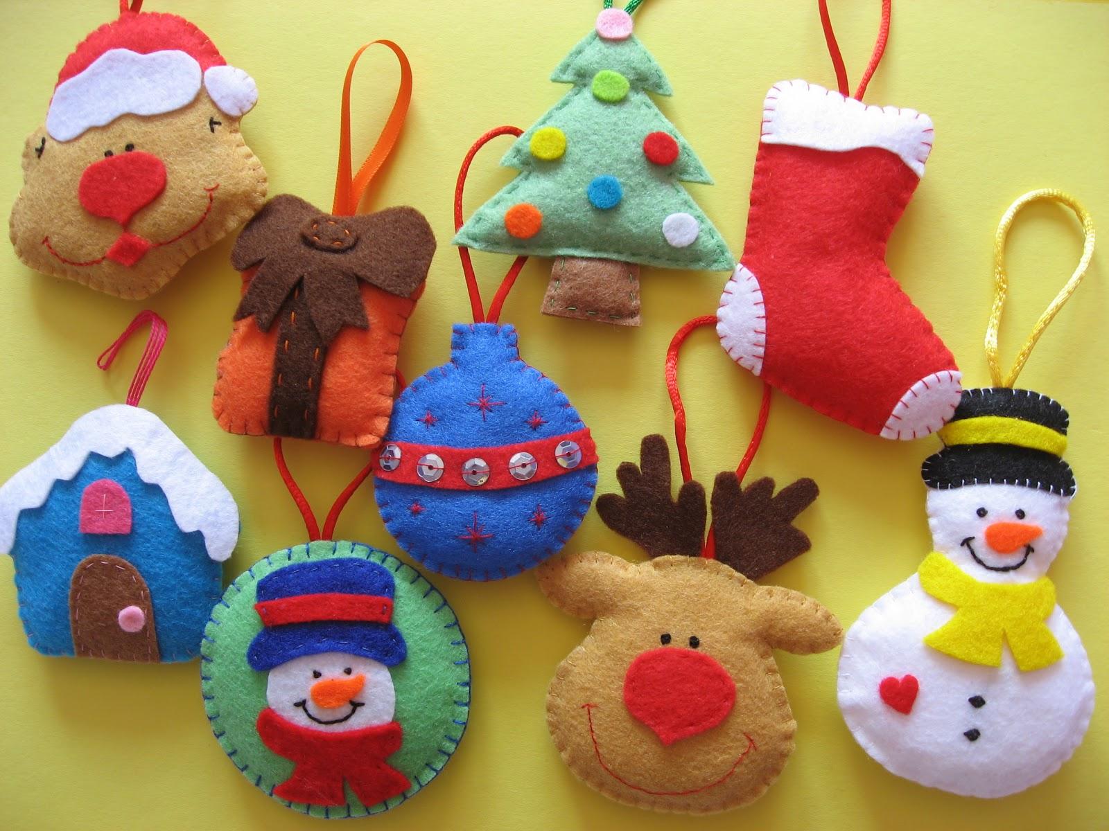 Lucky s felt adornos de navidad - Hacer adornos para el arbol de navidad ...