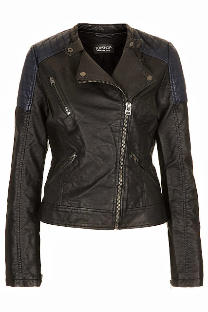 faux leather biker coat