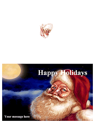 Christmas Santa greeting card, Word