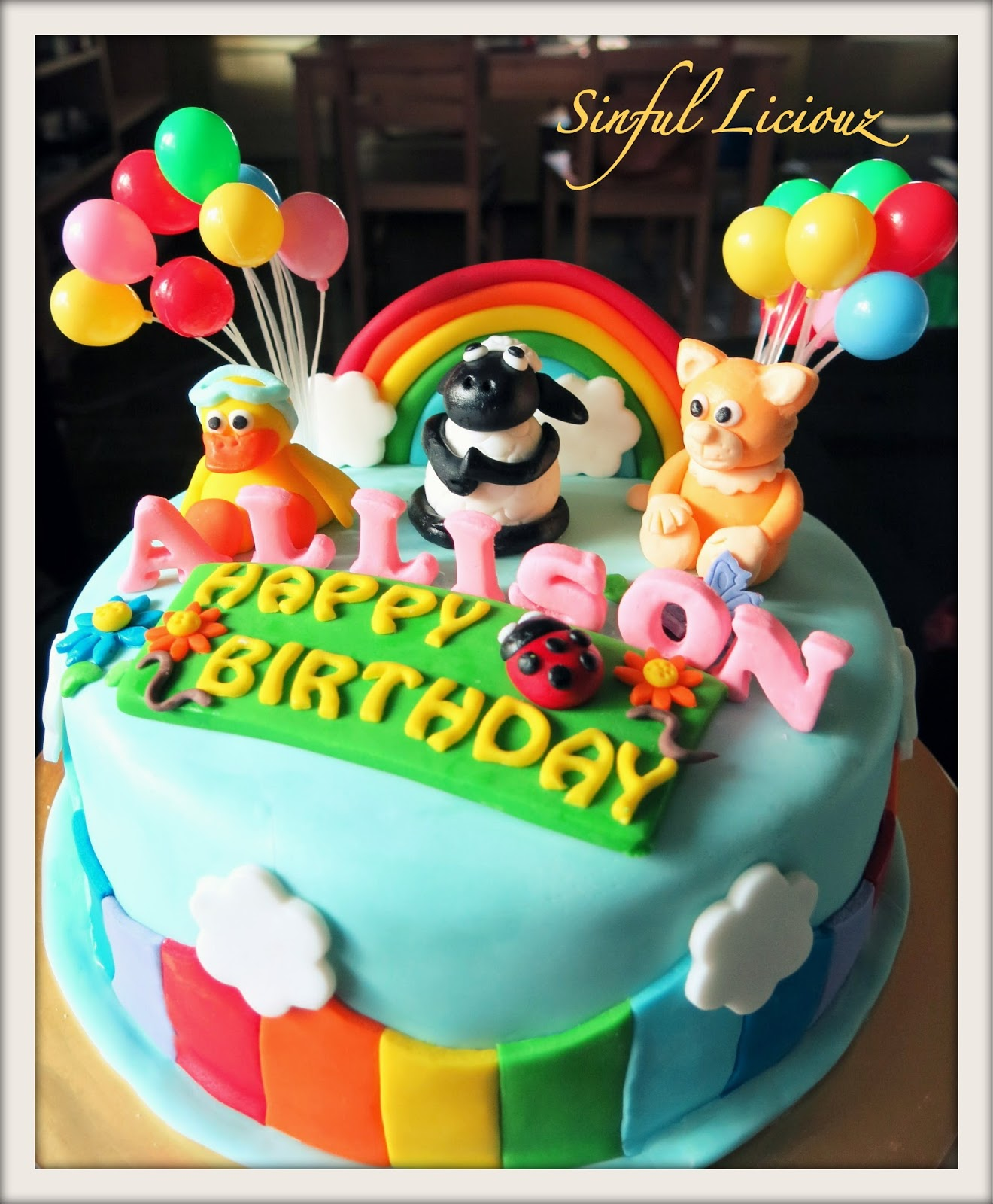 Sinful Liciouz Timmy & Friends Rainbow Theme Cake