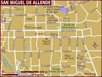 Mapa de San Miguel de Allende Político Región