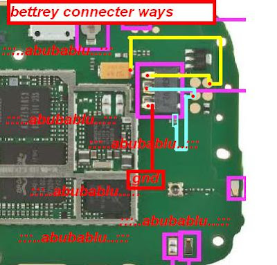 Nokia X1-01 Battery Connector Ways
