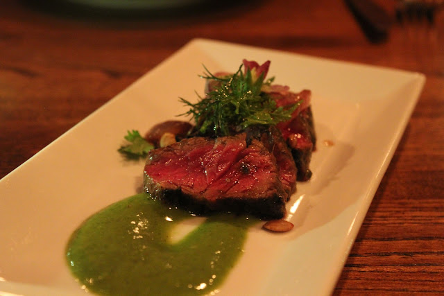 Grilled skirt steak at Moxy, Portsmouth, N.H.