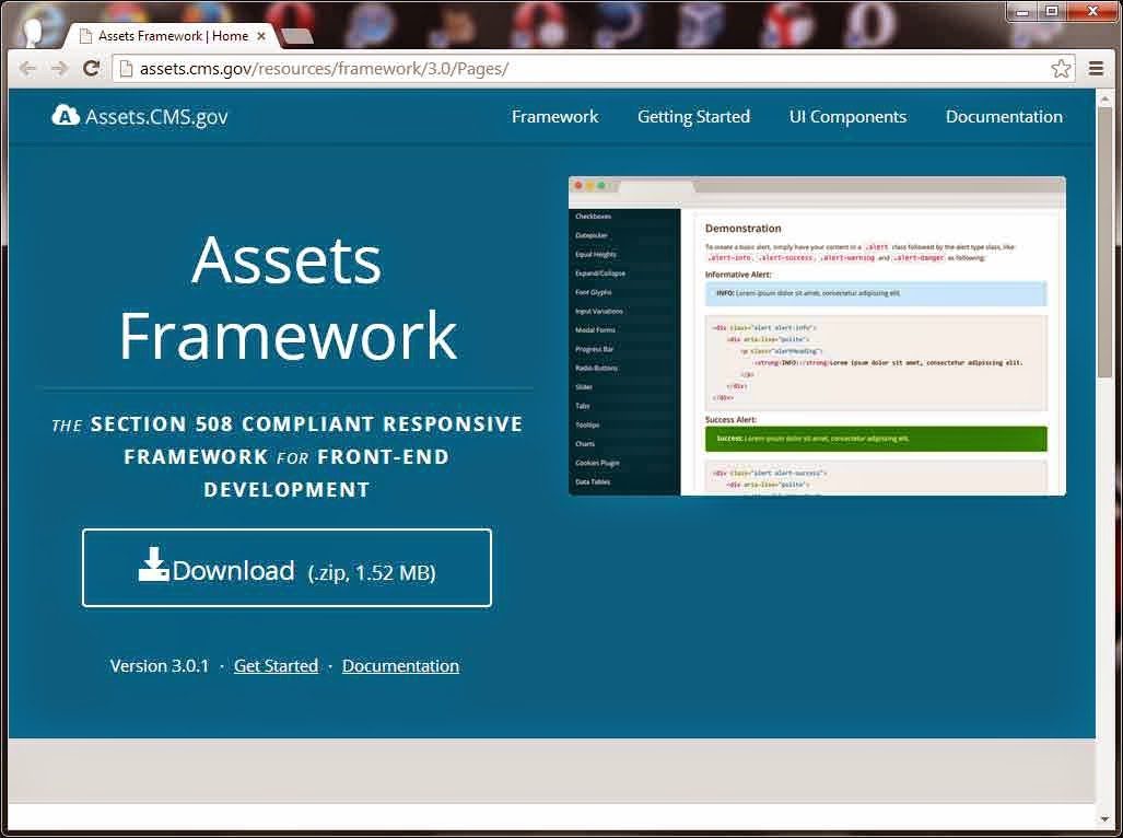 Screen shot of Assets.cms.gov.