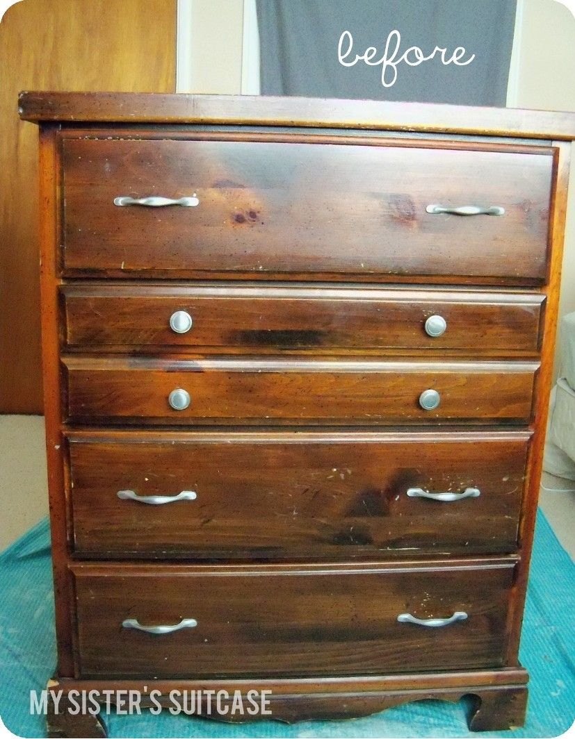 Suitcase With Drawers New Twist On An Old Dresser With Sheet Metal My Sisters