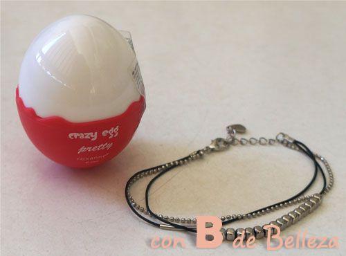 Perfume huevo y pulsera