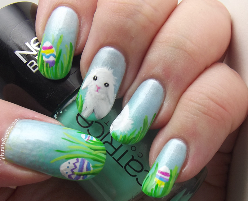 Happy Easter Freehand Lionhead Lop Eared Bunny Ithinitybeauty