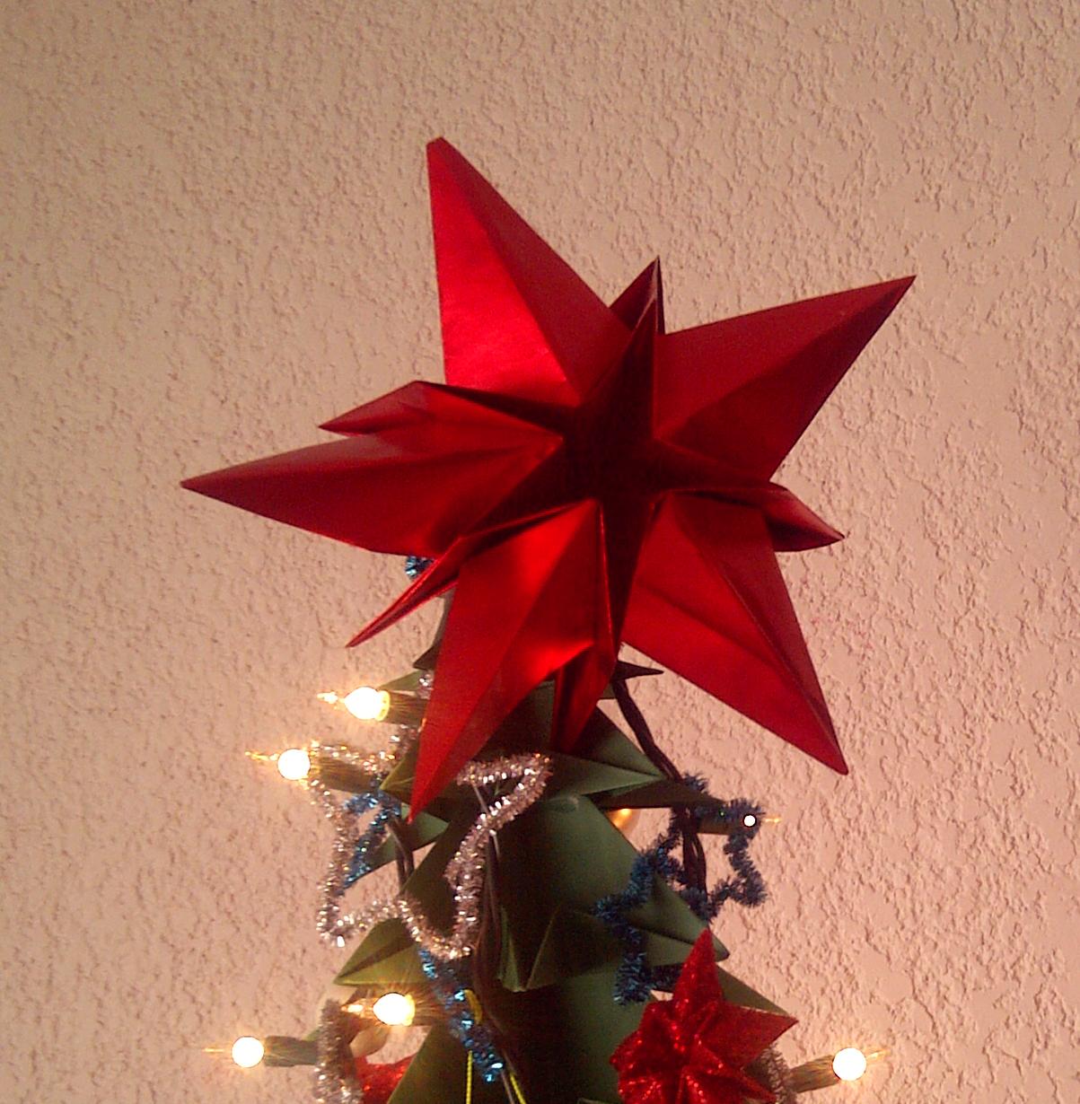 La vaca de papel estrella un peque o reto - Origami de una estrella ...