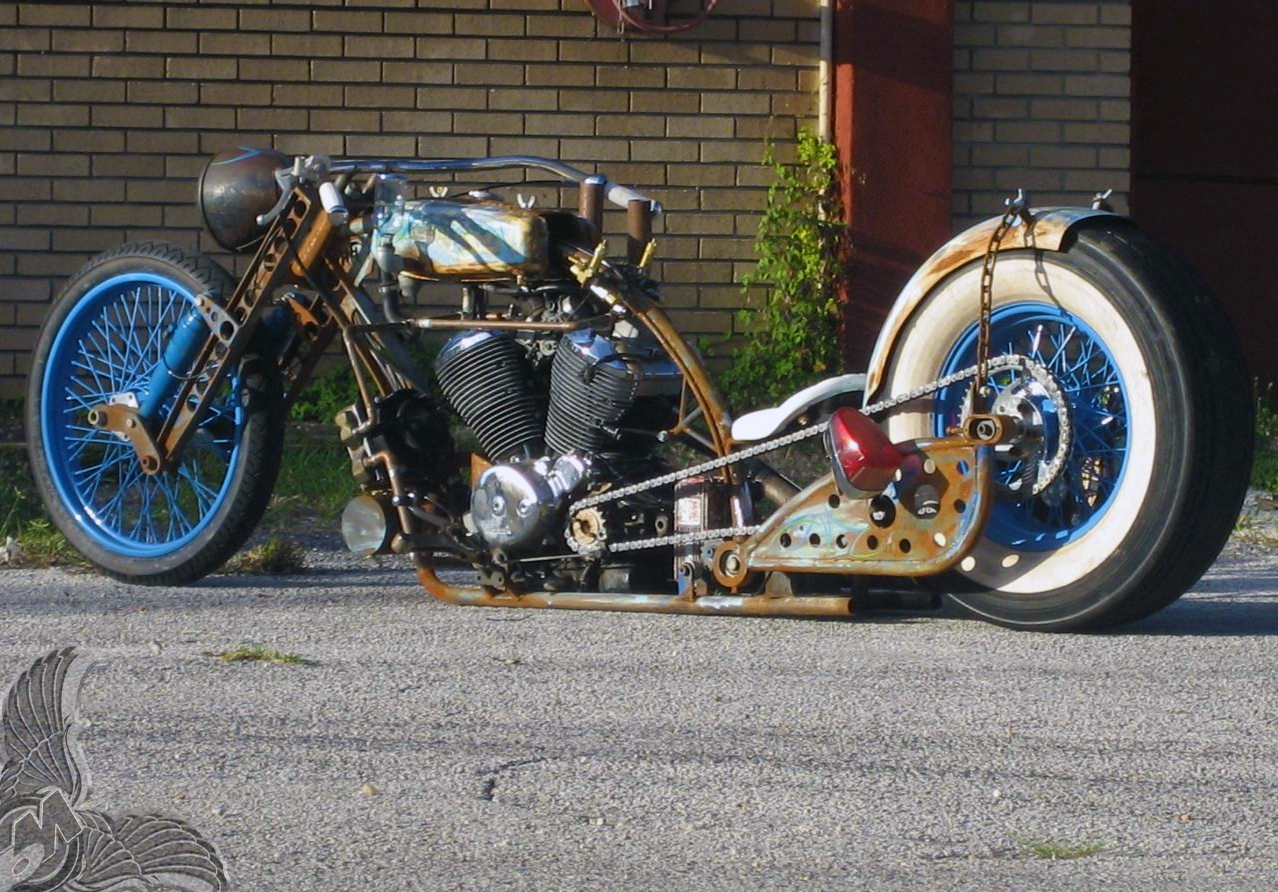 Radical Honda V Twin Chopper Bikermetric