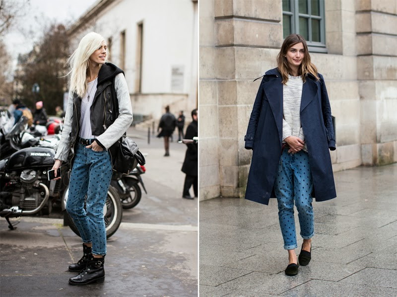 HOW TO WEAR DENIM PANTS AT PARIS FASHION WEEK AW 2014