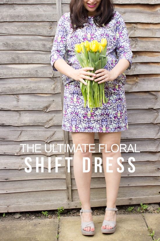 ultimate floral shift dress with John Lewis fabric