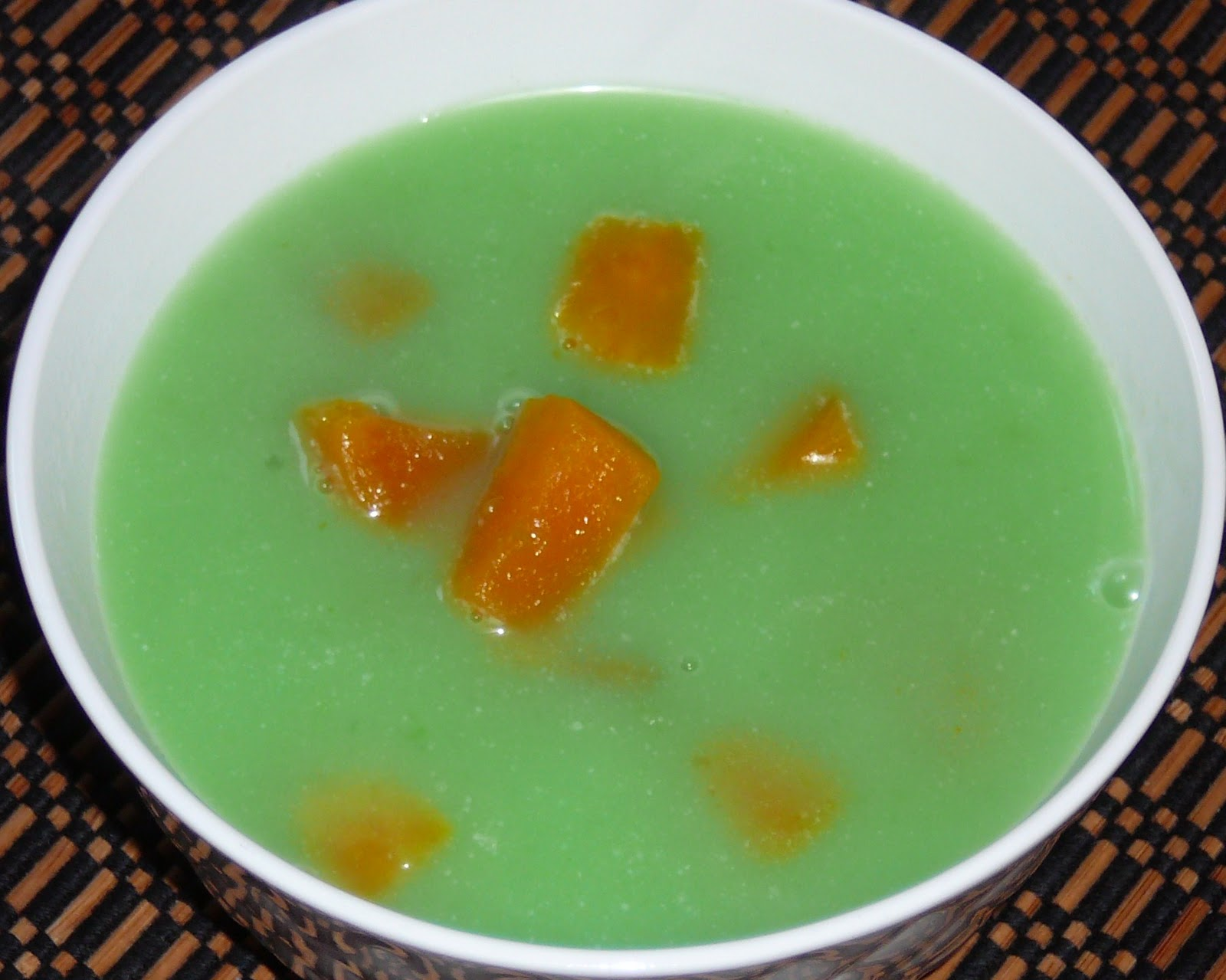 Sweet Potato with Sago Beads in Pandan Coconut Soup | Marishia's ...