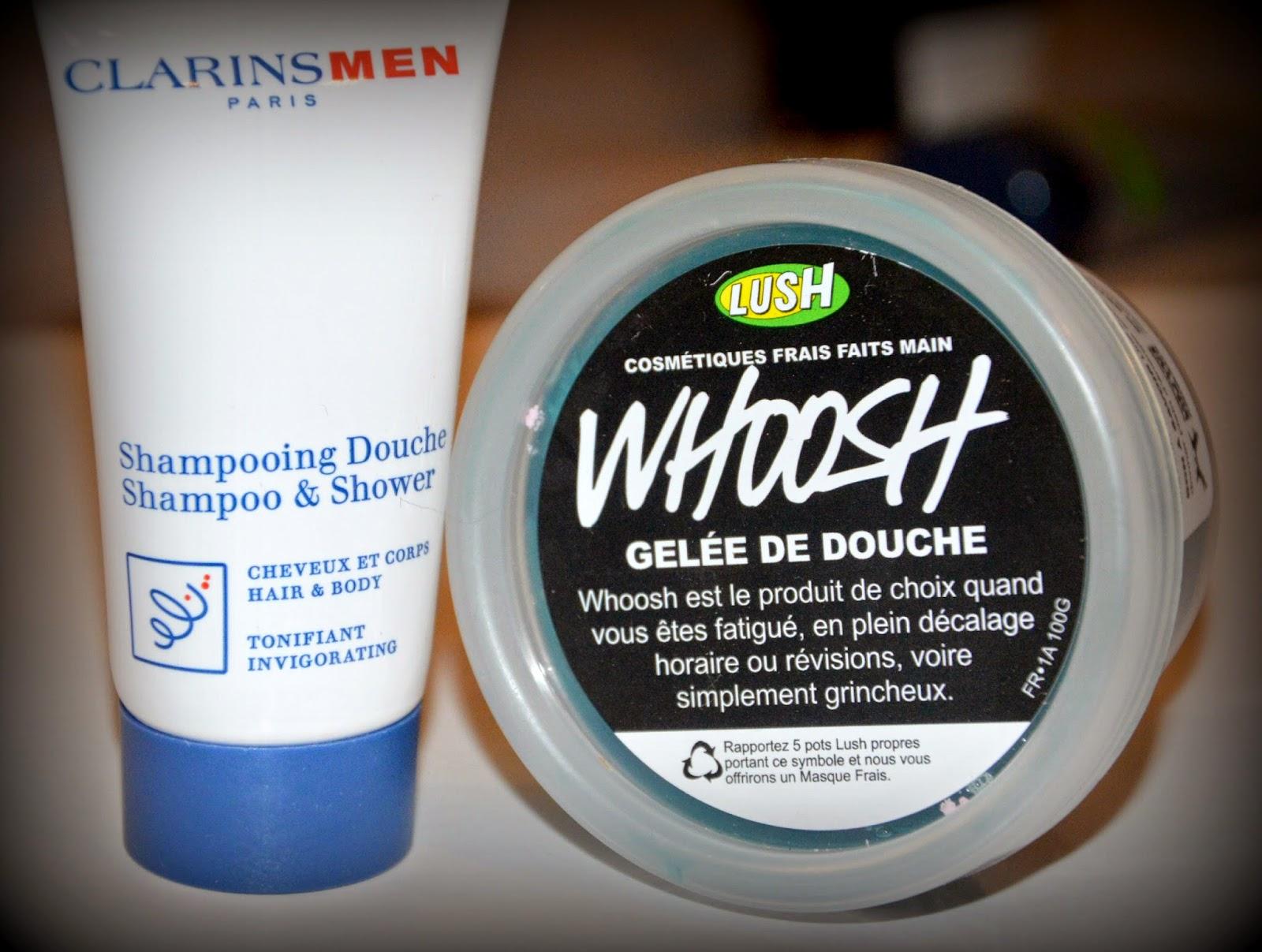 shampoing douche clarins homme, gelée de douche lush