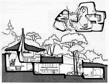 Earth house for Movement architecture concept