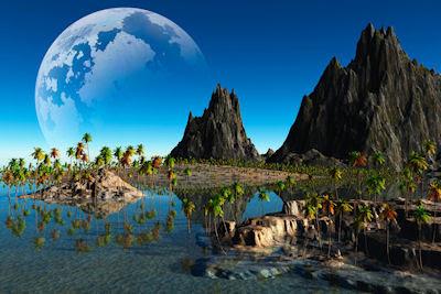 Paisaje fantástico lleno de colores - Colorful landscape