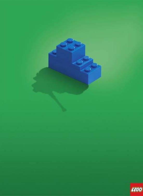 anúncios minimalistas e criativos na internet - Lego