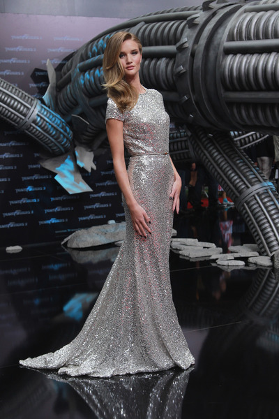 Rosie Huntington Whiteley 25Jun2011A+ Germany+silver+dress