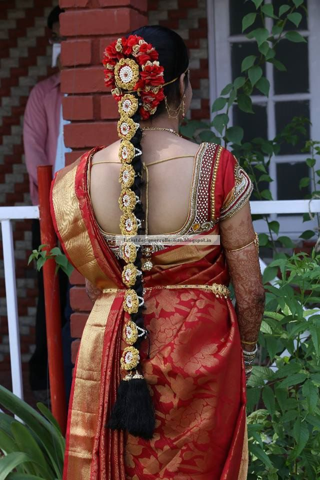 South Indian Bridal Hairstyle Latest Indian Clothing And Jewellery Designs