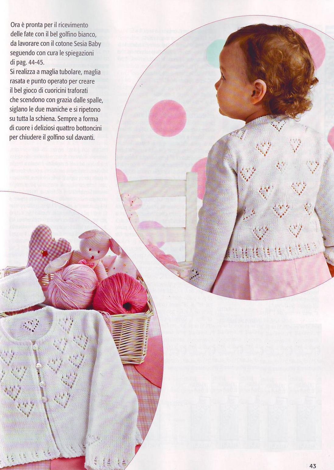 Вязание детских кофточек для девочек 473