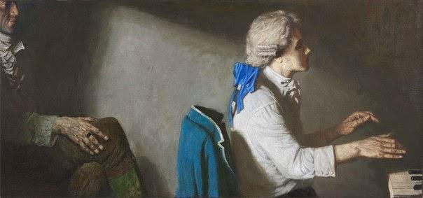 Gely Korzhev Mozart and Salieri