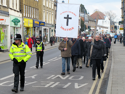 Good Friday march in St Neots