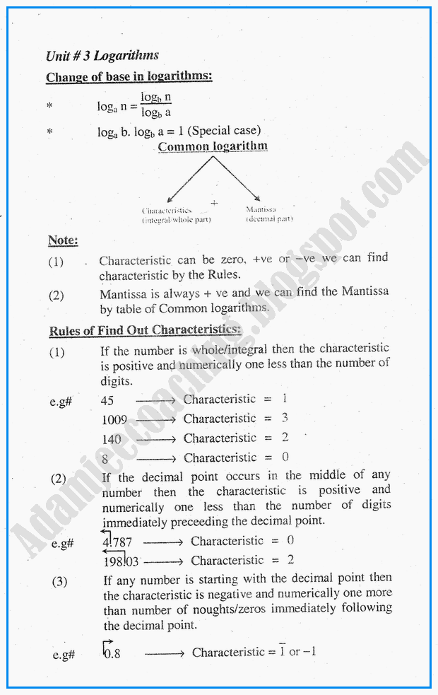 logarithms-definitions-and-formulae-mathematics-notes-for-class-10th