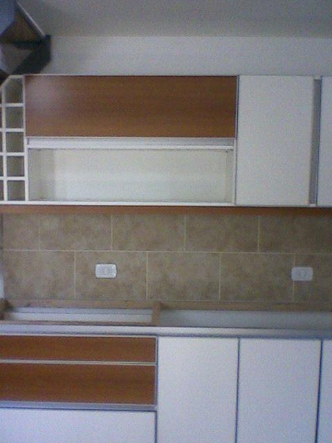 Benjamin cocina melamina blanca nogal sin manijas - Herrajes para muebles cocina ...