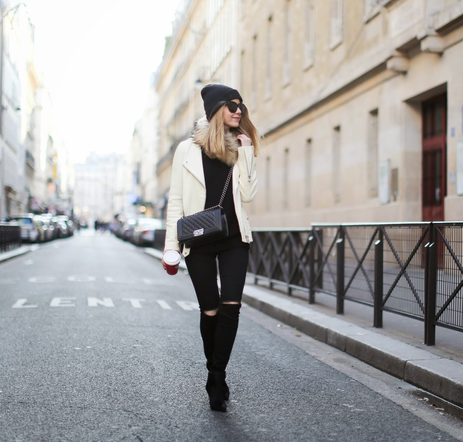 zara, topshop, homies, black and white, chanel, streetstyle, fashion blogger, paris
