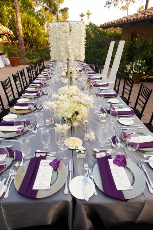 Purple Wedding Table Decorations Living Room Interior Designs