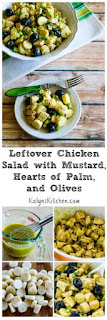 Leftover Chicken Salad with Mustard, Hearts of Palm, and Olives [from KalynsKitchen.com]