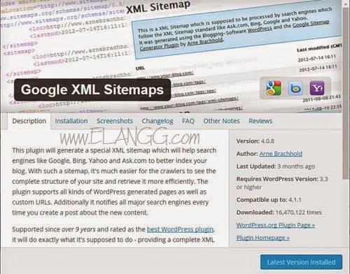 google xml sitemap untuk wordpress