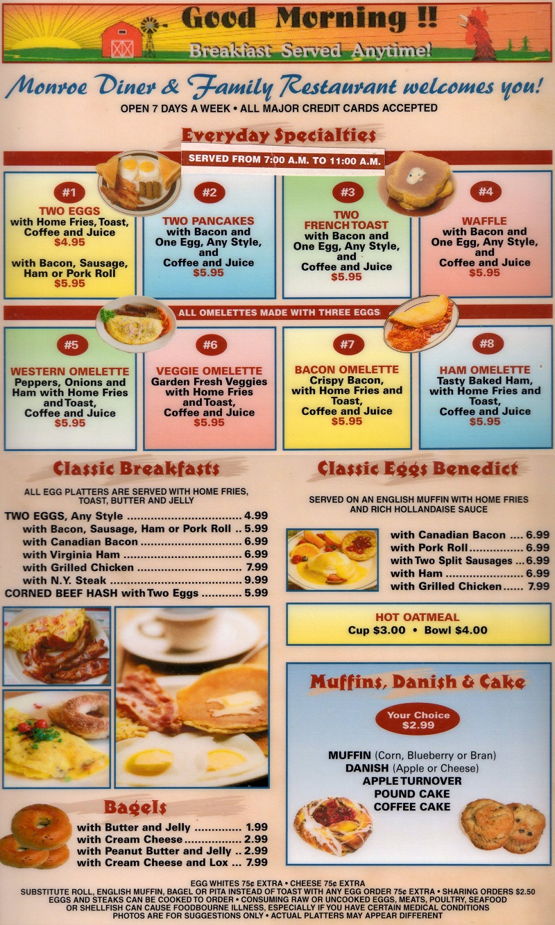 50s diner breakfast menu and diners on pinterest for American cuisine restaurants