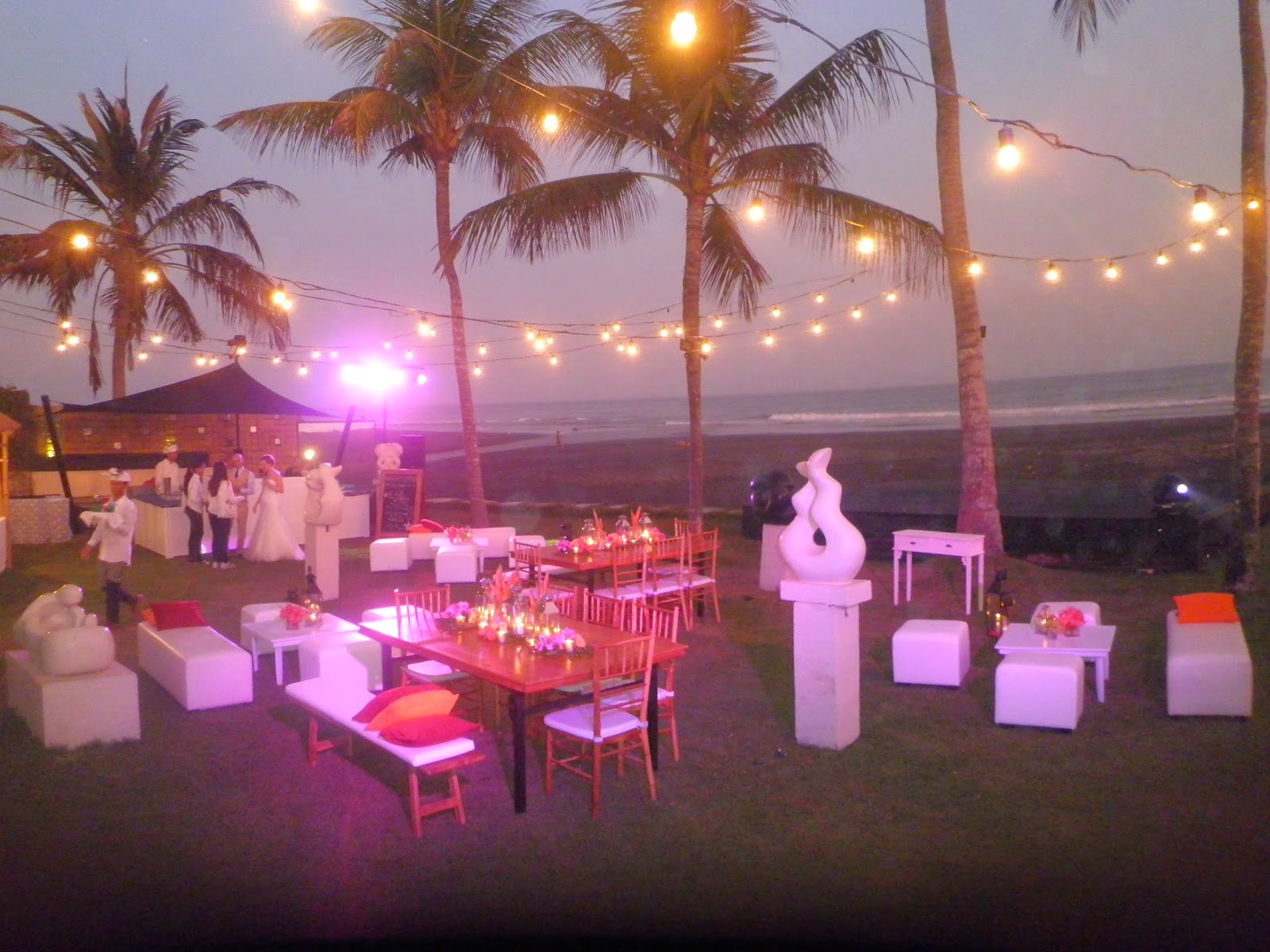 wedding reception at villa The Ylang Ylang