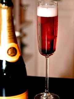 Kir Royale, champagne, celebration, cocktail